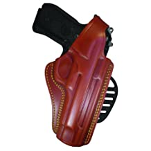 Gould & Goodrich GG807-26RLH Gold Line Paddle Holster, Left-hand, Fits Sig P220, P226, P226 with Equipment Rail (Chestnut Brown)