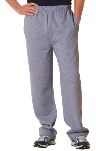 Badger Sportswear Adult Open Bottom Pocketed Fleece Pant, Oxford, X-Large