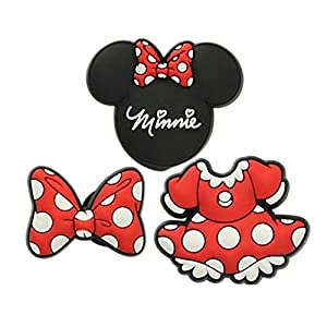 Crocs Disney 3-Pack Shoe Charm | Personalize with Jibbitz, Minnie Mouse, Small