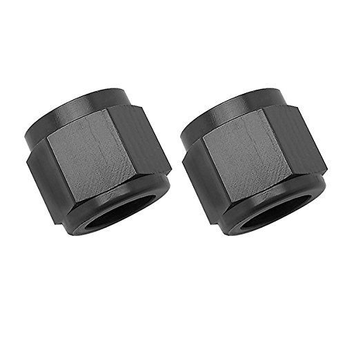 Russell 660575 Black -6 AN Tube Nut ()