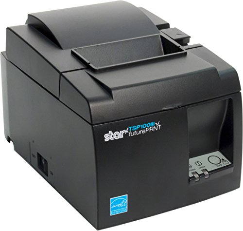 Star Micronics TSP143IIIU USB Thermal Receipt Printer with Device and Mfi USB Ports, Auto-cutter, and Internal Power Supply - Gray by Star Micronics (Image #5)