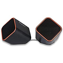 PHOTRON USB Wired 2.1 Speakers for PC with 3.5mm Jack, Red