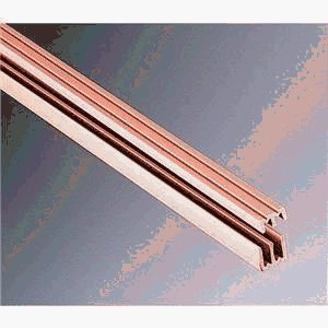 (KNAPE & VOGT Manufacturing Company P2413 TAN 72 Plastic Sliding Door Track and Guides, 1/8
