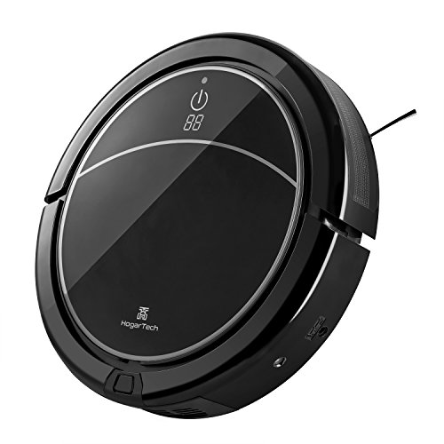 Robotic Vacuum Cleaner, HogarTech Self-Charging Floor Robot Cleaner with Drop-Sensing & Anti-Bump Technology, Cleans Hard Floor and Thin Carpet