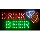 Flashing Neon Lighted Led Sign DRINK BEER