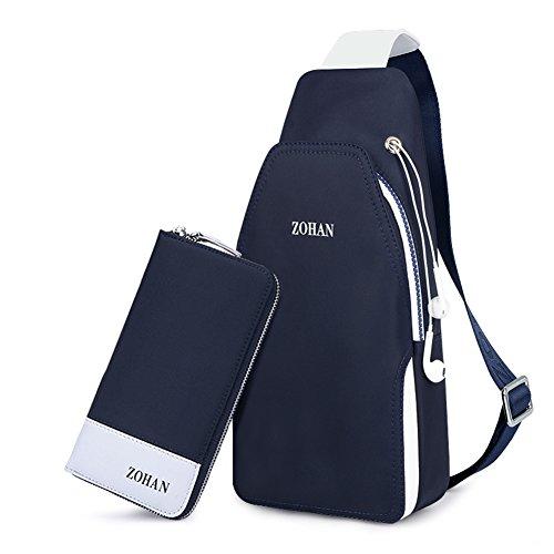 pecho multifuncional A estilo mochila Bolso Pack ocasional A arrojado de lona hombres 6EaRqwnxS