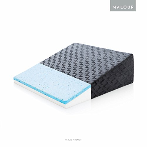 MALOUF  Z Gel-Infused Memory Foam Pillow-Therapeutic Bed Wedge with Removable Rayon from Bamboo Cover