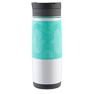 Contigo AUTOSEAL Transit Stainless Steel Travel Mug, 16 oz., Polar White with Grayed Jade