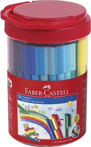 Faber-Castell Connector Pen (Bucket of 50) (Faber Castell Connector Pen And Pencil Set)