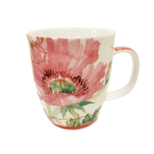 SVIV Curve New Bone China Coffee or Tea Mug, 16oz (Come to my Garden) (China Mug Plastic)