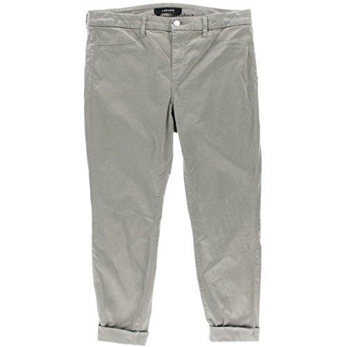 J Brand Womens Anja Sateen Cuffed Cropped Pants Gray 31 (Woman Cropped Cuffed Pant)