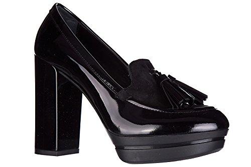 Hogan Zapatos de Salón Escotes Mujer EN Piel Nuevo h299 opty Negro