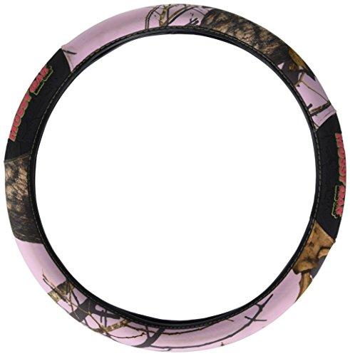 (Mossy Oak 2-Grip Steering Wheel Cover, Break-Up Pink Camo)