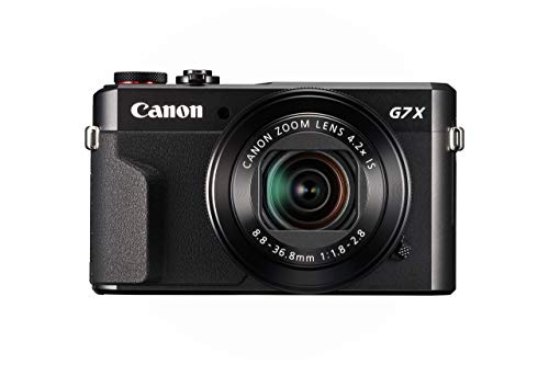 Canon PowerShot G7 X Mark II Digital Camera w/ 1 Inch Sensor and tilt LCD screen - Wi-Fi & NFC Enabled (Black) (Certified Refurbished)