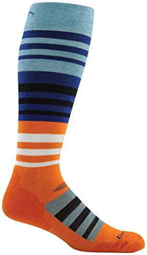 Darn Tough Merino Wool Ski Hojo Over-The-Calf Ultralight Socks - Men's Orange Large
