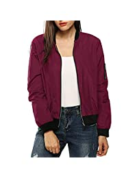 Shakers123 Womens Classic Quilted Jacket Short Bomber Jacket Coat