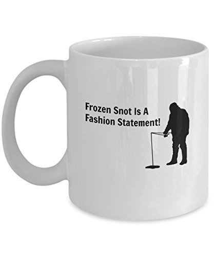 Ice Fishing Gift Mug - Frozen Snot Is a Fashion Statement (White) (Rc Arctic Cat Snowmobile compare prices)