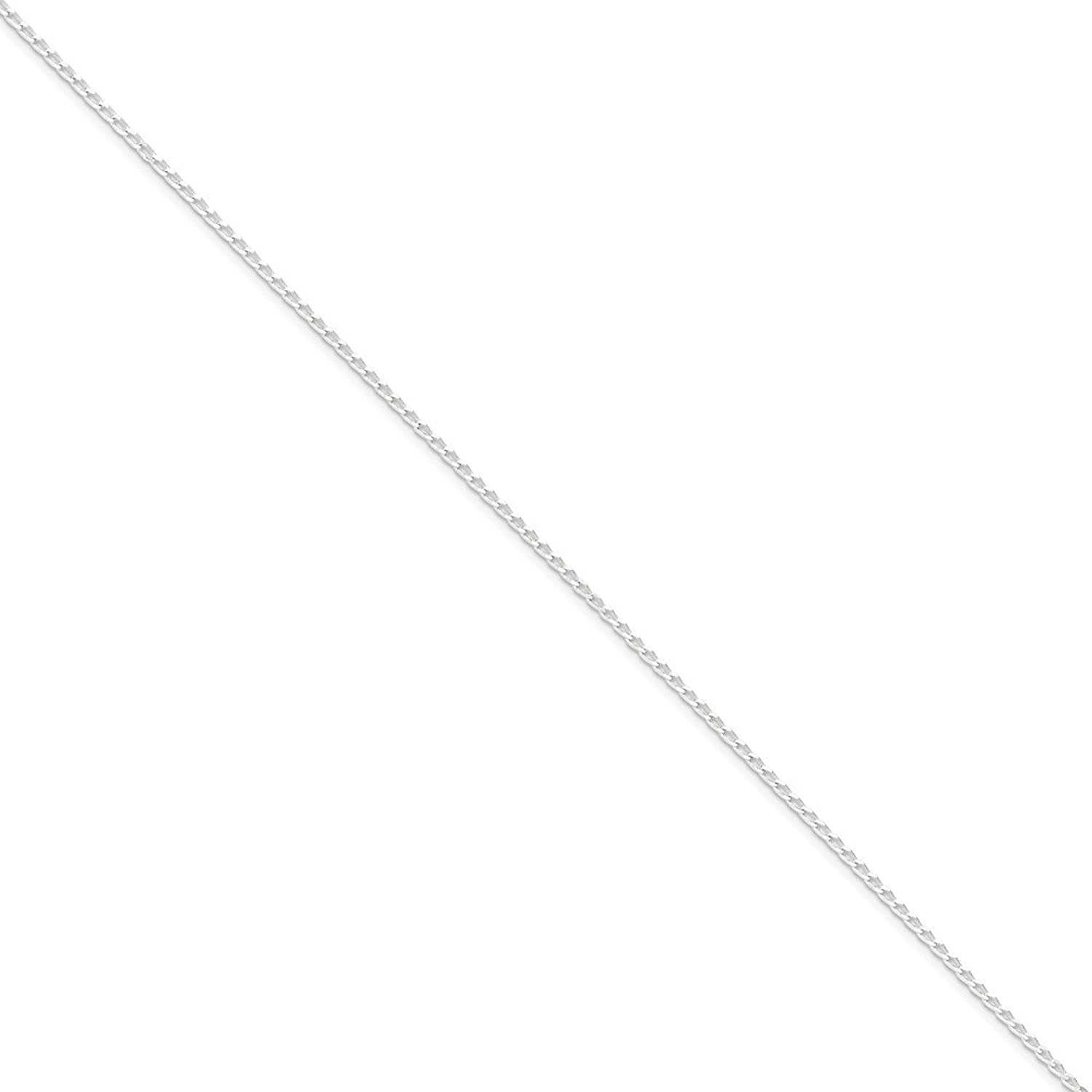 .925 Sterling Silver 1.50MM Open Curb Link Anklet Bracelet, Available in 9 & 10 Inches
