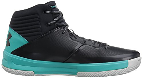 Under Armour Mens Lockdown 2, Anthracite/Teal Punch/Anthracite, 14 D(M) US
