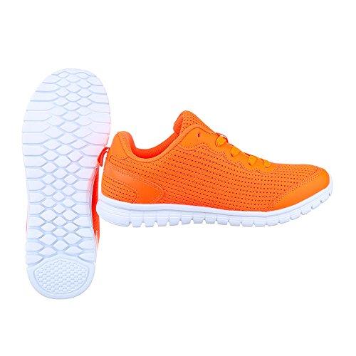 naranja Design Sintético para Material mujer Zapatillas de Ital Fw1a0qw