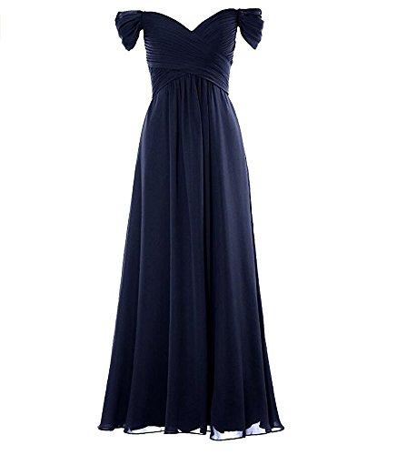 KA Beauty - Vestido - para mujer azul marino