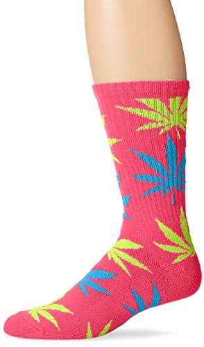 HUF Mens Neon Plantlife Crew Sock