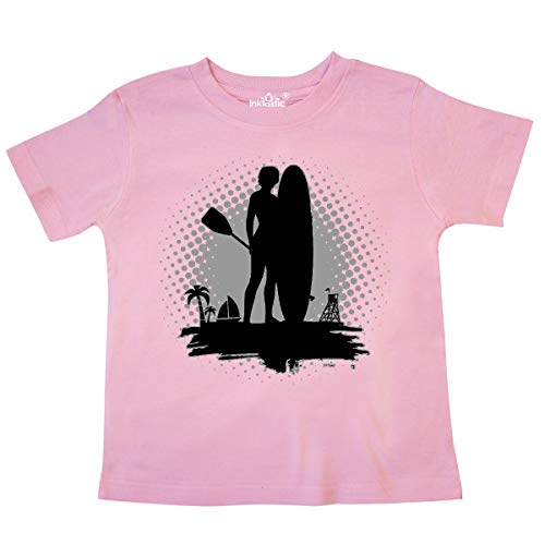 inktastic - Stand Up Paddle Boarding SUP Toddler T-Shirt 4T Pink 33c37