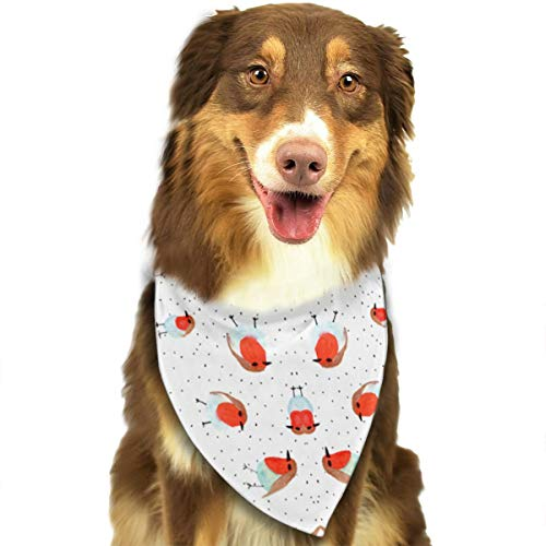 OURFASHION Watercolor Robin Bandana Triangle Bibs Scarfs Accessories for Pet Cats and Puppies -