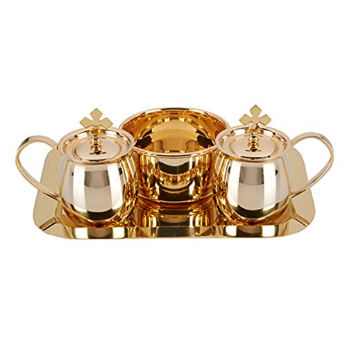 ss Cruet Set with Tray and Bowl, 5 Ounce ()
