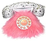 Southern Telecom Pink Fur and Rhinestone Phone
