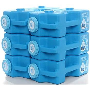 Image of AquaBrick Emergency Water & Food Storage Container, Portable Stackable Storage Containers, Water Storage, BPA Free by SaganLife (6-Pack) Survival Kits