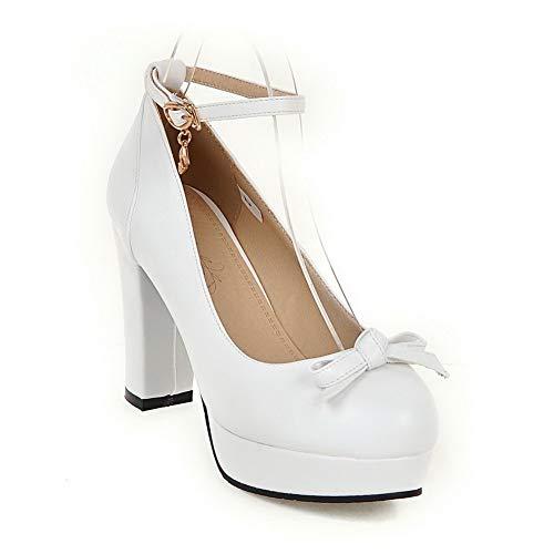 36 EU BalaMasa Femme APL10511 Plateforme Blanc 5 Blanc wSqaHp7S