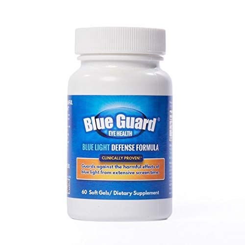 Blue Guard Blue Light Defense Vitamins–Lutemax 2020: Lutein and Zeaxanthin, Filter Blue Light, Protect and Strengthen Eyes, Prevent Digital Eye Strain, Improve Eye Health—Natural, Non-GMO, 60 Softgels ()