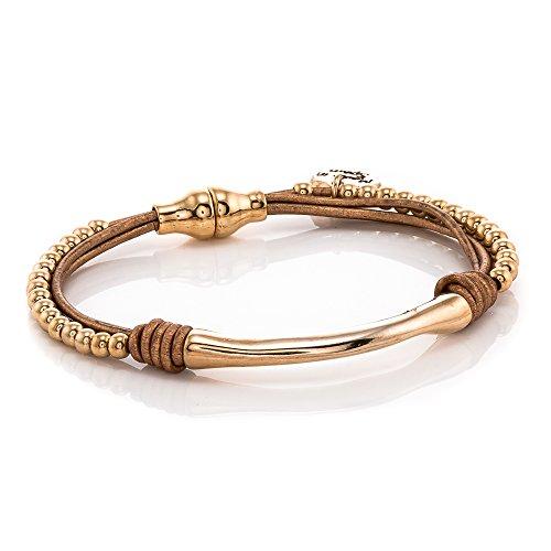 Trades by Haim Shahar Sammy Leather Bracelet handmade in Spain 14k gold plated