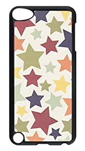 Brian114 Case, iPod Touch 5 Case, iPod Touch 5th Case Cover, Colorful Stars 3 Retro Protective Hard PC Back Case for iPod Touch 5 ( Black )