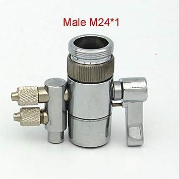 Lessonmart - Aireador de grifos de Metal Cromado para purificador de Agua, Accesorio de riego bucal, Interruptor de válvula: Amazon.es: Juguetes y juegos