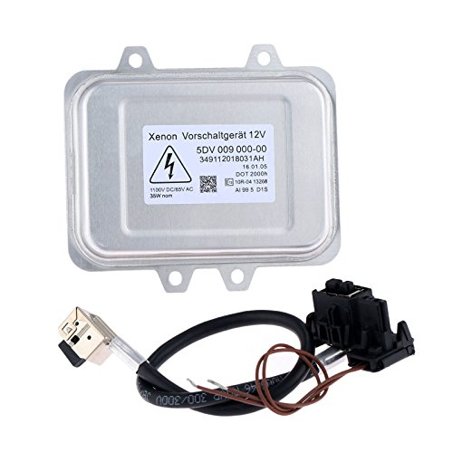 Aupoko Replacement Xenon HID Ballast Headlight, Control Unit Module for 5DV 009 000-00 & Wiring Harness, Fit for BMW, Mercedes, Cadillac, Jaguar, Volkswagen, Lincoln, Chrysler & More - 6 Year Warranty
