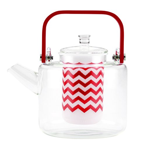 glass and bamboo tea kettle - 9