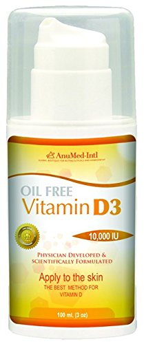 ANUMED INTERNATIONAL Vitamin D3 Cream Oil Free, 0.02 Pound