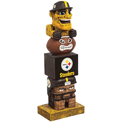 NFL Pittsburgh Steelers Football Team Mascot & Logo Lucky Resin Tiki Totem -
