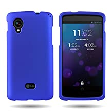 Google Nexus 5 Case, CoverON® for LG Google Nexus 5 Hard Case [Slender Fit Series] Ultra Slim Polycarbonate Back Phone Cover with Matte Non-Slip Grip Coating - Blue