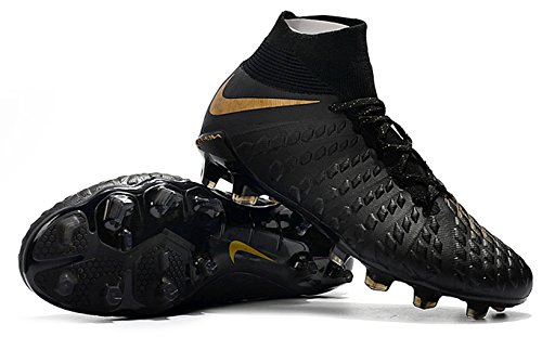 Hypervenom III DF Men's High Ankle Gold Elite FG Soccer Cleats Black Phantom qSIHTaS