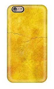 Excellent Design Solid Cracked Yellow Phone Case For Iphone 6 Premium Tpu Case