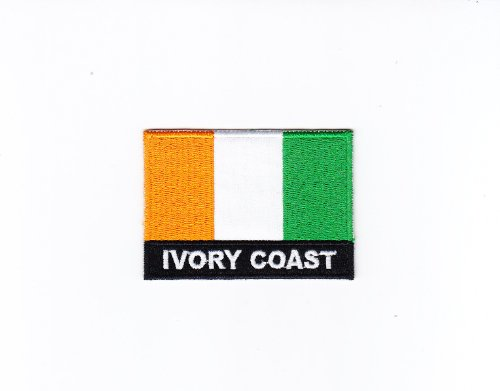 Multi Color Blank Country National Flag Iron on Embroidered Patch Heat Seal Applique Emblem (Ivory Coast / Côte - Coast Country Flag Ivory