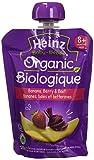 HEINZ Junior - Organic Banana Berry Beet Pouch, 6 Pack, 128ML Each