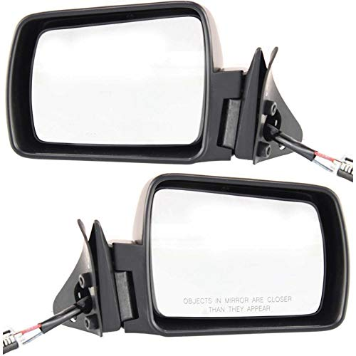 - Manual Mirror Remote compatible with Jeep Cherokee 84-96 Right and Left Side Non-Folding Non-Heated Paintable