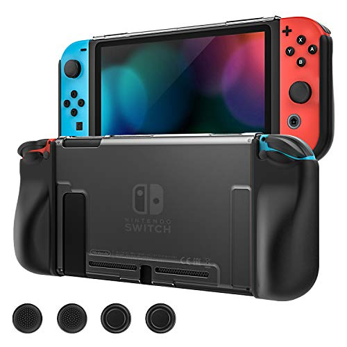 MoKo Case Replacement for Nintendo Switch, Full Protective Slim Cover Switch Shell with 4PCS Joystick Caps, Shock-Absorption Anti-Scratch for Nintendo Switch Console and Joy Con Controllers, ()