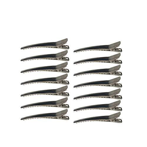 50 Pack 2.36 inches Hair Clips Silver Metal Alligator Hair Pins Teeth Bows Hair Clips Hairdressing Salon Hair Grip DIY Accessories Hairpins for Women Girls and Hairdresser Sliver