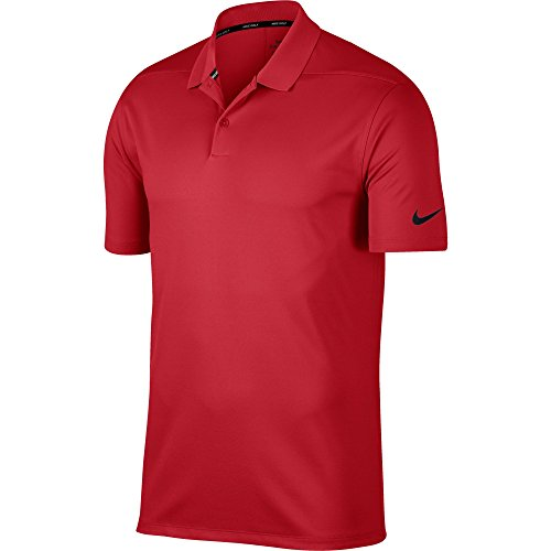 Nike Men's Dry Victory Golf Polo, Dri-FIT Men's Polo Shirt with Ribbed Collar, University Red/Black, S
