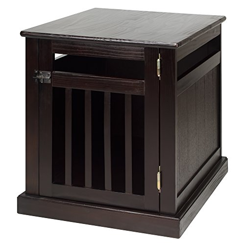 Casual Home Chappy Pet Crate with Wood Slats, Espresso